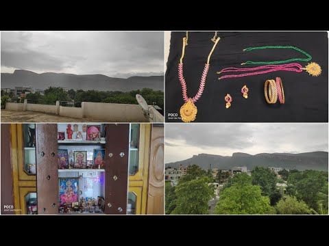 Pooja room cleaning//my one gram gold jewellery/