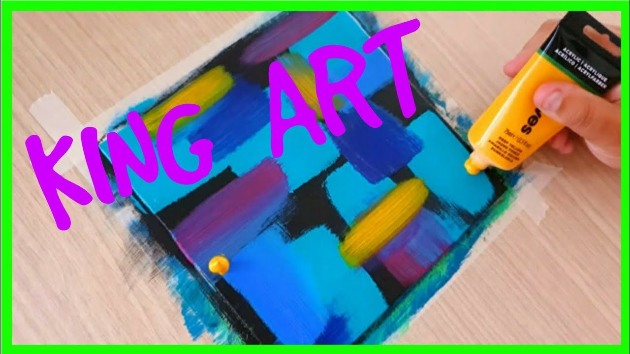 KING ART N  278   EASY  ABSTRACT COLORS  STEP BY STEP