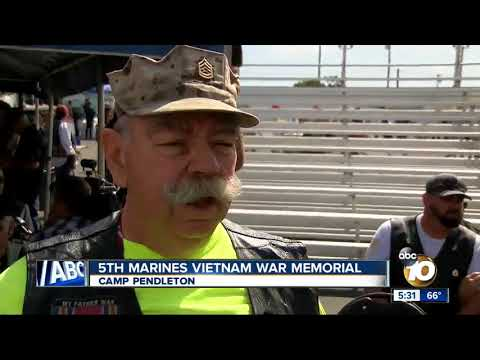 Camp Pendleton unveils 5th Marines Vietnam War Memorial