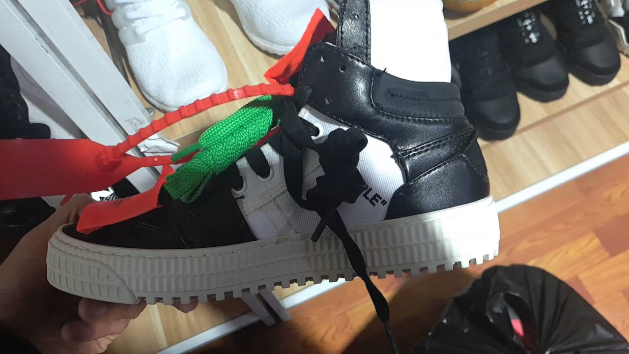 OFF-WHITE Low 3.0 Sneakers Black White - YouTube 4381acdfb8