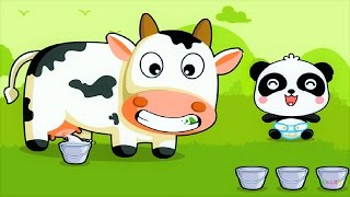 Children Learn Numbers By Shapes | Count Animal Feed | Baby Panda Fun game