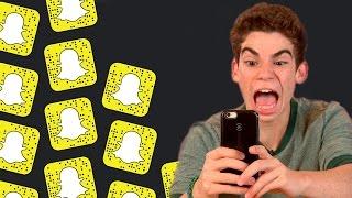 cameron boyce gets terrified on snapchat