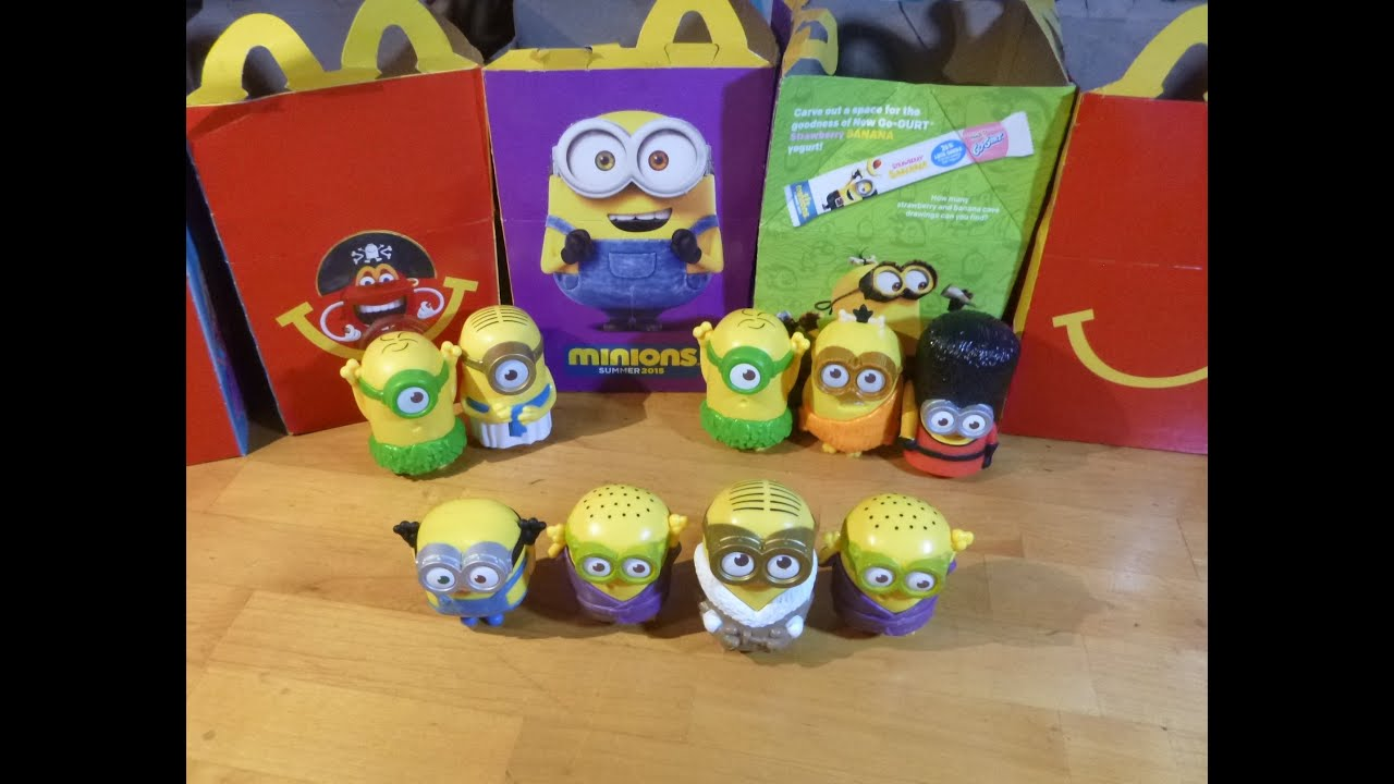 Fast Food Toys : Minions mcdonalds happy meal toys fast food