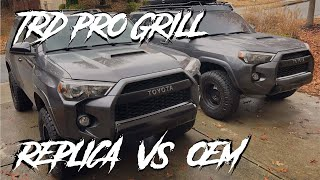 4RUNNER TRD PRO GRILL (REPLICA VS OEM)