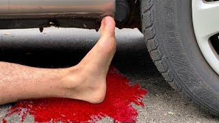 EXPERIMENT: Car vs Plastic Foot - Crushing Crunchy & Soft Things by Car! 2