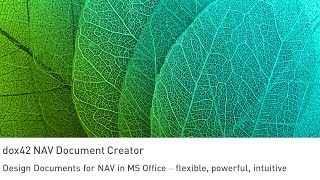 dox42 NAV Document Creator - Belegerstellung für Dynamics NAV direkt in MS Office