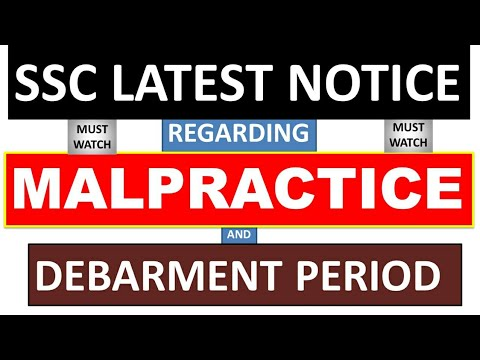 SSC IMPORTANT NOTICE REGARDING MALPRACTICE AND DEBARMENT PERIOD - why notice period is important