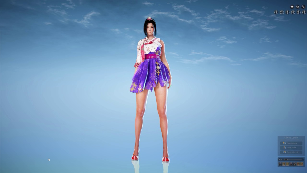 Black Desert Hanbok Costume all class