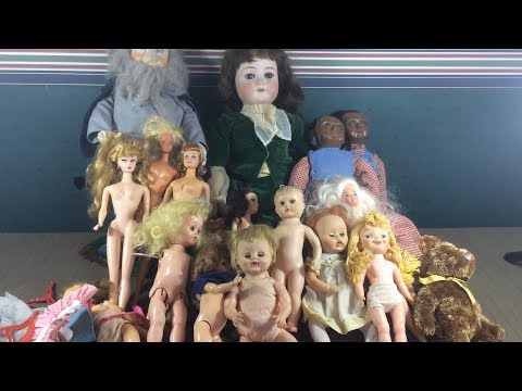 Antique, Vintage & Modern Dolls - German Bisque, Rare Effanbee, Repro Barbie Etc - Auction Haul #1