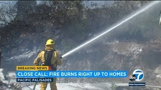 RAW: Officials provide update on fire burning near Pacific Palisades homes. I ABC7