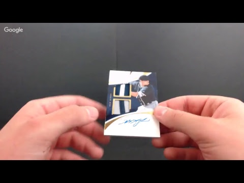 2017 Immaculate Collection Baseball Case Break #1
