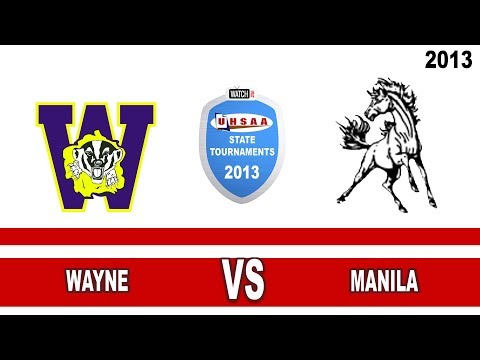 2013 State 1A Volleyball Tournament: Wayne vs Manila High School