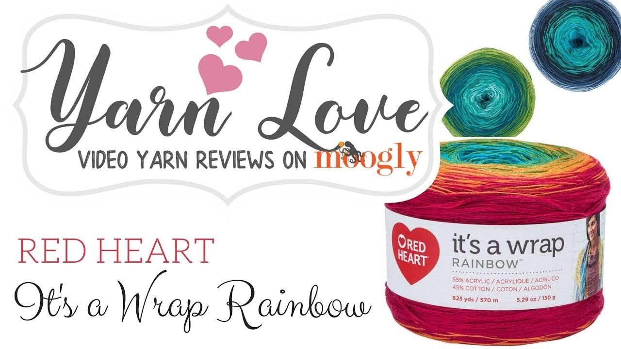Yarn Love: Red Heart It's A Wrap Rainbow - moogly