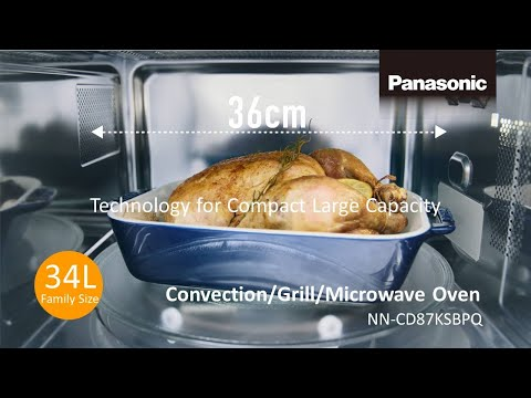 Panasonic Convection Grill Microwave Oven NN-CD87KSBPQ compact big capacity ver