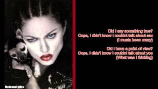 Madonna Human Nature Lyrics On Screen.mp3