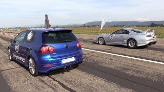 980HP VW GOLF V R32 Turbo 4Motion vs 990HP Toyota Supra