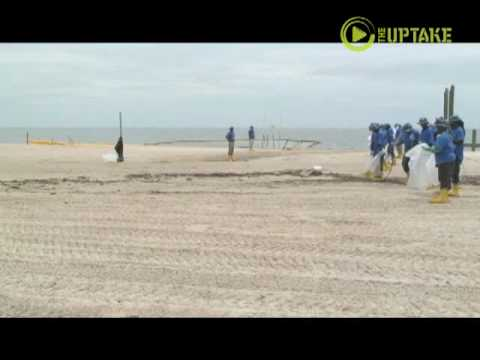 Tar Ball Beach Cleanup -Pascagoula, Mississippi