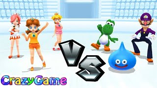 Mario Sports Mix - Team Daisy & White Mage Play Basket & Dodgeball Expert Gameplay | CRAZYGAMINGHUB