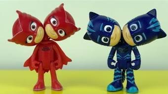 Learn Colors With Pj Masks Toys Double Heads