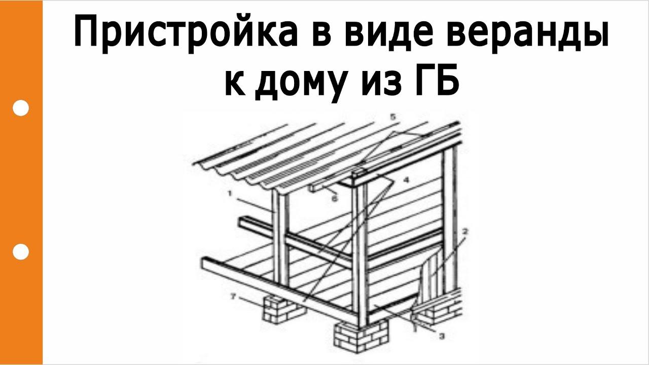 Как пристроить веранду из пеноблока к дому своими руками пошагово