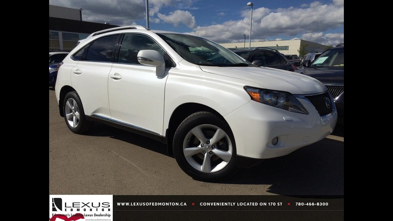 Superb Pre Owned White 2012 Lexus RX 350 AWD Premium Package 1 Review | Beaumont  Alberta