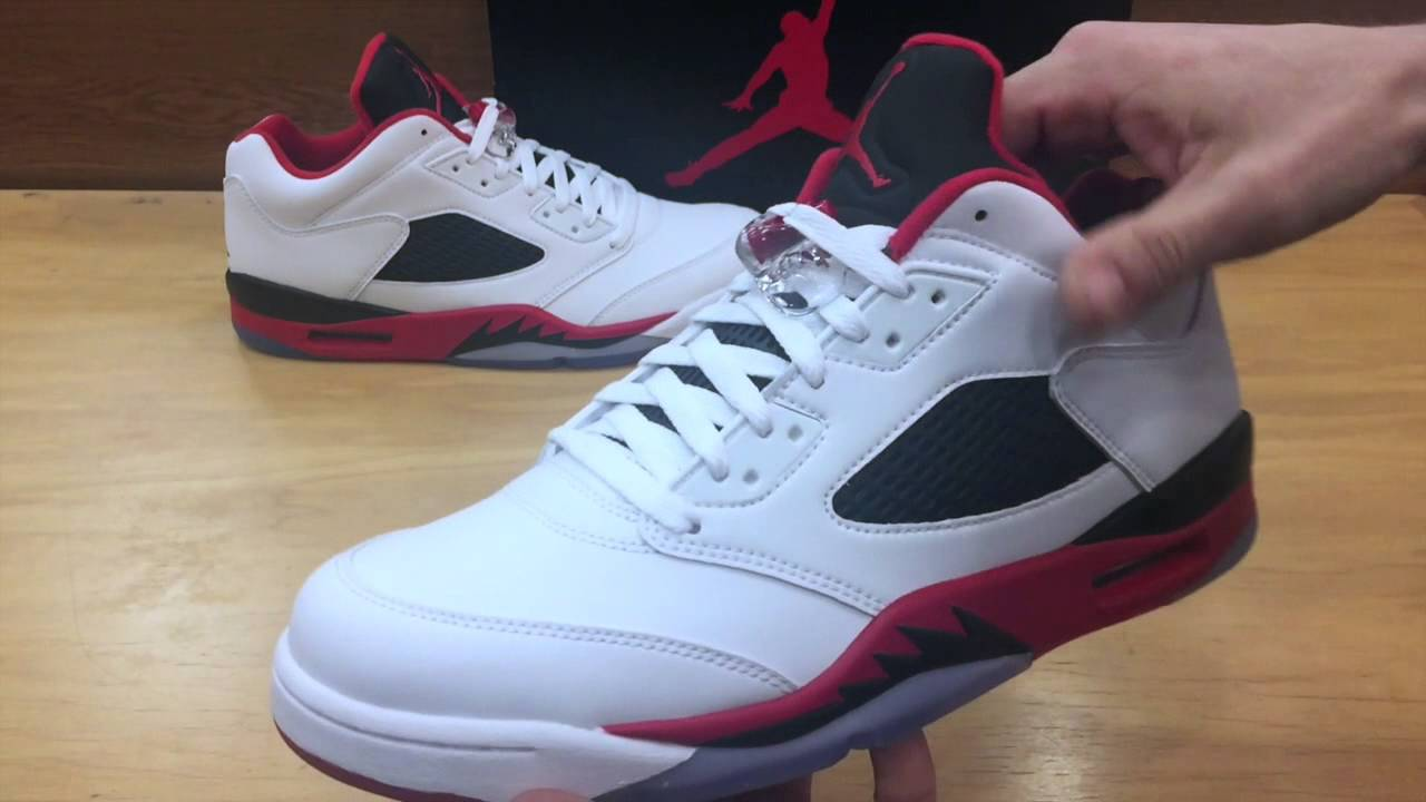 big sale 1b85d 28d11 ... czech air jordan retro 5 low fire red black tongue early access review  youtube a67e8 2ecd5