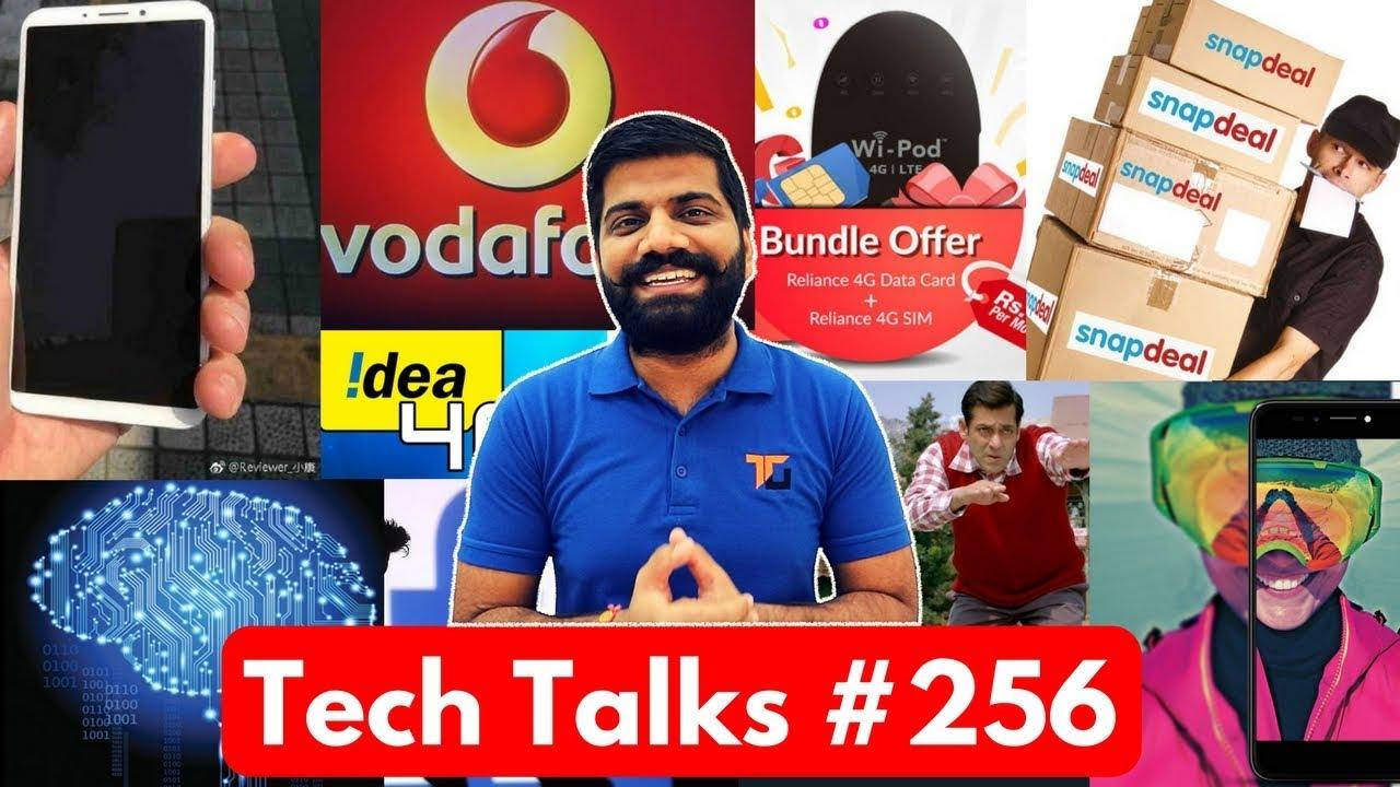 Tech Talks #256 - Vodafone 352 84GB, Idea Phone, RCom WiPod, Micromax Selfie 2, Facebook AI, iPhone8
