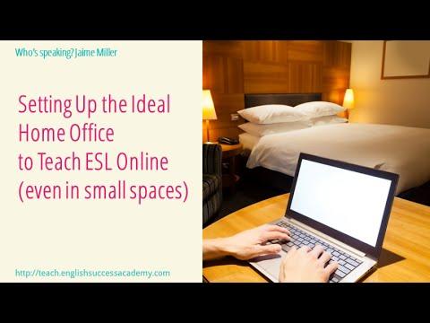 Setting up the ideal home office to teach ESL online Jaime Miller EFL Magazine