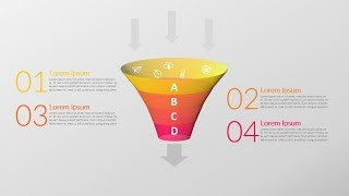 3D funnel diagram in powerpoint. powerpoint tricks