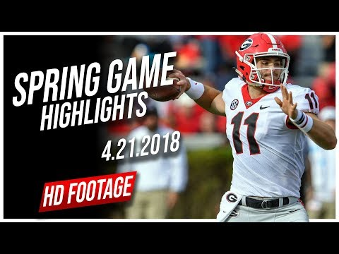 Jake Fromm Georgia Spring Game Full Highlights || 4.21.2018