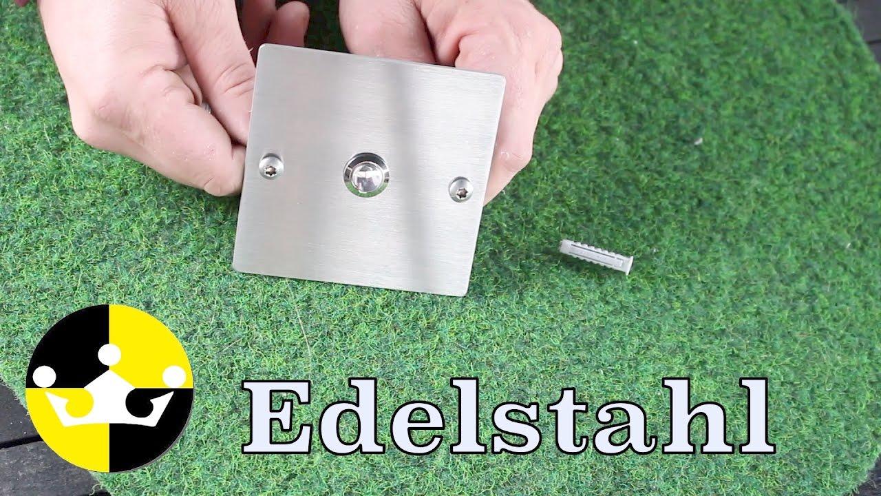 """edelstahl klingelknopf """" türklingel anschließen """" #eurosell - youtube"""