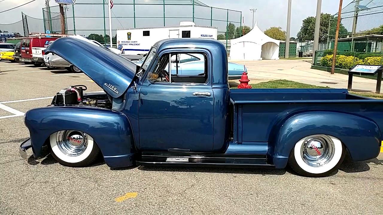 1953 Dark Metallic Blue Chevrolet 3100 Pickup Truck Youtube