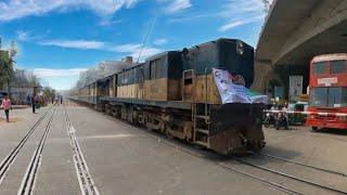 train in a Big Level crossing  || Bangladesh Railway ||