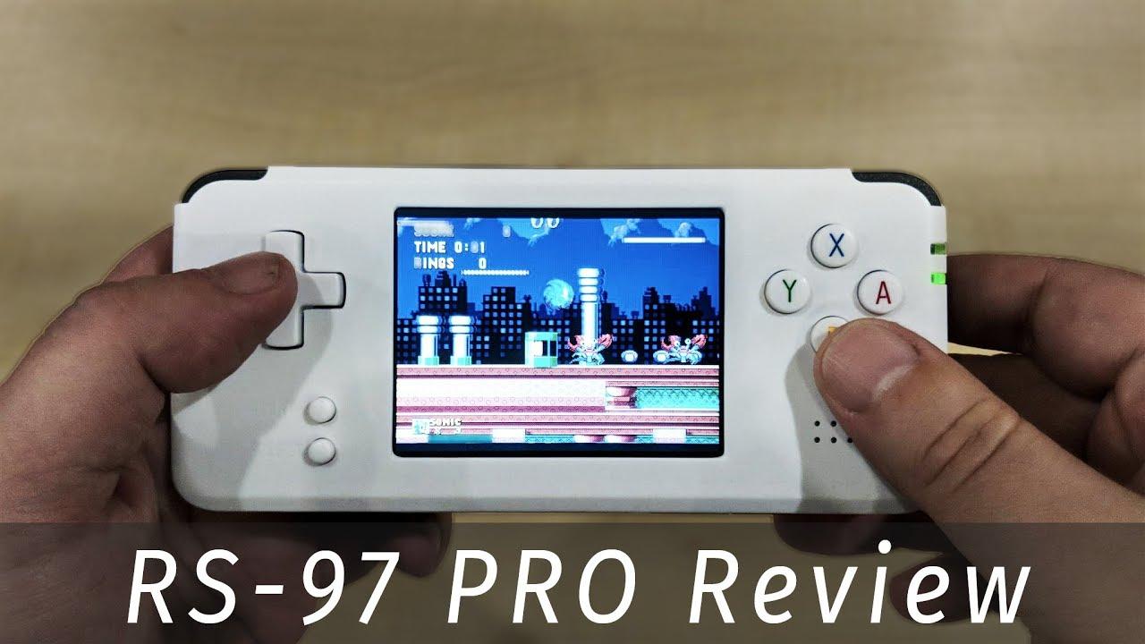 DroiX RS-97 Pro retro gaming emulator handheld review OpenDingux custom  firmware compat  Soulja Boy