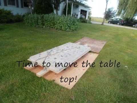 Concrete Picnic Table DIY