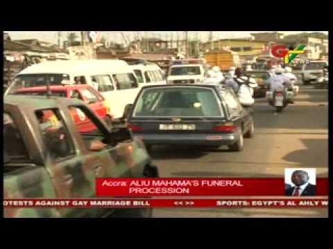 Aliu Mahamas funeral procession
