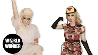 Enjoy the video? Subscribe here! http://bit.ly/1fkX0CV You asked for it, literally! Trixie & Katya asnwer your Twitter questions. RuPaul's Drag Race season 7 ...
