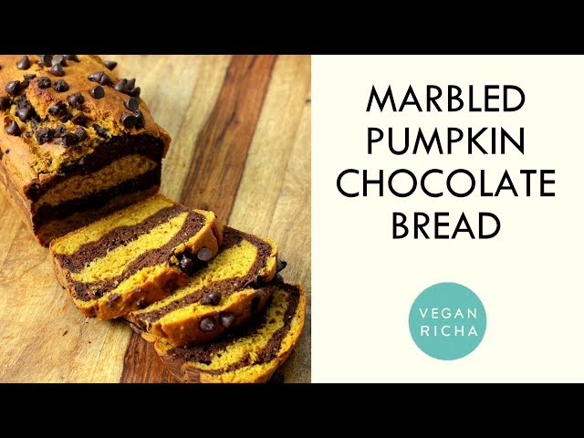 Marbled Turmeric Pumpkin Chocolate Loaf 🍂🍫 | Vegan Richa Recipes