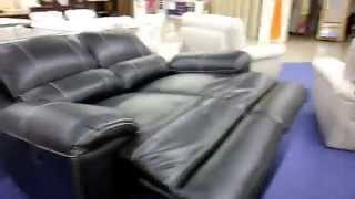 Черный кожаный диван (реклайнер) для дома(В интернет магазине http://rozkwit.com.ua можно купить черный кожаный диван (реклайнер). Диван отличного европейског..., 2015-06-28T07:10:56.000Z)