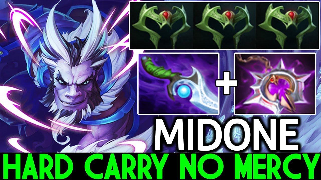 Midone Riki Hard Carry No Mercy Cancer Style Build 7 21 Dota 2 Youtube
