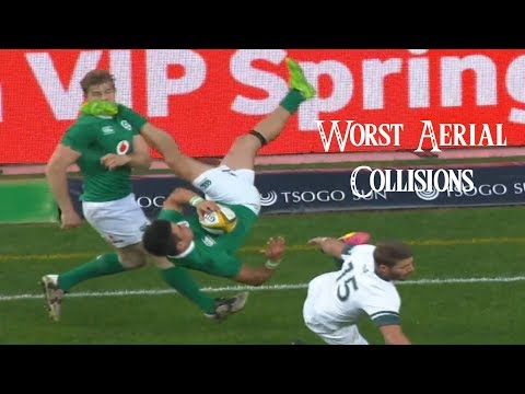 Worst Rugby Aerial Collisions ❖ Worst Aerial Challenges ❖ HD