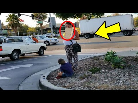 woman-began-filming-a-pregnant-beggar,-then-soon-she-discover-a-dark-secret