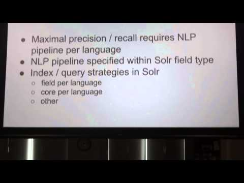 David Troiano- Optimizing Mulitlingual Search Using Solr