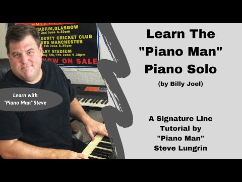 How to Play Piano Man  Billy Joel!  the Piano Solo