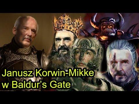 Janusz Korwin-Mikke masakruje w Baldur's Gate