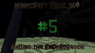 Minecraft Xbox 360 - Ending The Ender Dragon - #5 Boat Trip, Spider Jockey