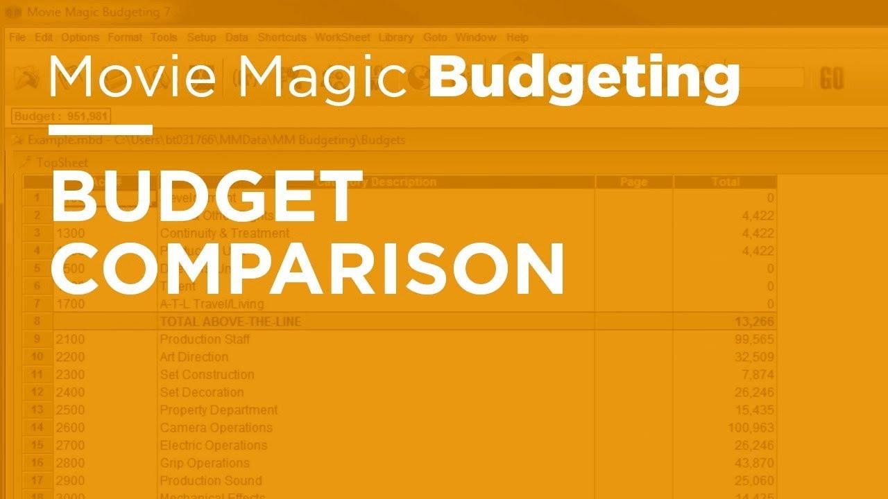 Movie magic budgeting budget comparison youtube movie magic budgeting budget comparison ibookread PDF