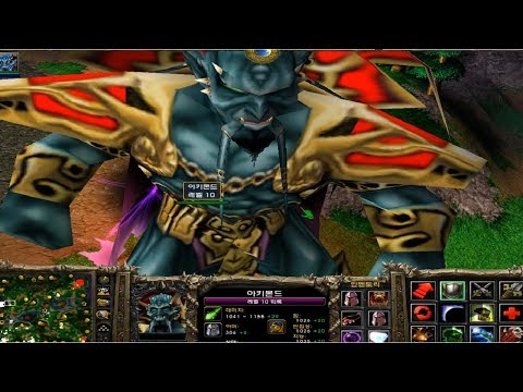 [Warcraft 3] Archimonde VS 11 insane computer
