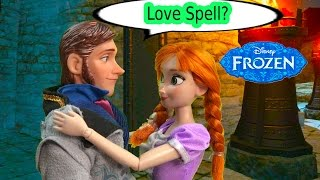 Queen Elsa Love Spell on Prince Hans? Disney Frozen Princess Anna Part 36 Dolls Series Video