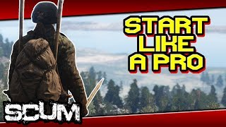 SCUM - ULTIMATE STARTING GUIDE! Triple Spear, 4x4 Backpack, Camo in few minutes